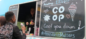 Co-op Ice Cream van giveaway for all our 100% attendees!